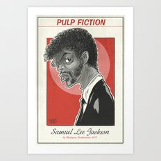 Samuel Lee Jackson caricature Art Print