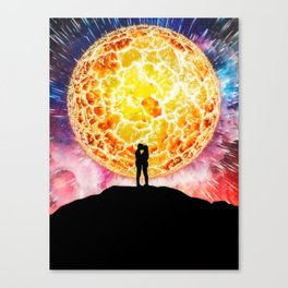 Lovers On The Sun by GEN Z Canvas Print