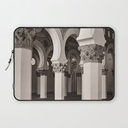 The Historic Arches in the Synagogue of Santa María la Blanca 5, Toledo Spain Laptop Sleeve