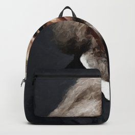 Frederick Douglass, African American Civil Rights Pioneer portrait painting Backpack