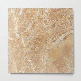 Mud Marble Texture Metal Print