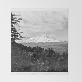 Mount Shasta, and neighboring mountain Shastina, Siskiyou County, ca.1900-1940 Throw Blanket