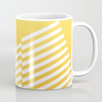 bands Mugs featuring Yellow Bands R. by blacknote