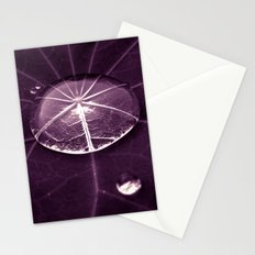 purple water drop XVI Stationery Cards