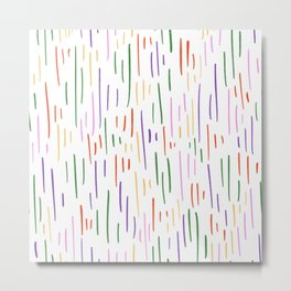 Spring into stripes Metal Print