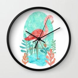 Flamingo Feelings Wall Clock