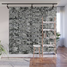 Knowing Wink (P/D3 Glitch Collage Studies) Wall Mural