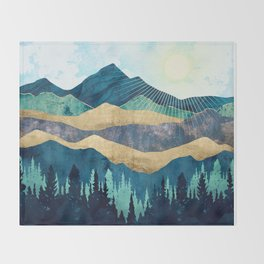 Blue Forest Throw Blanket