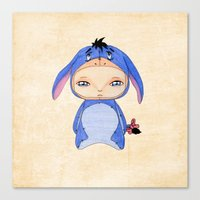 eeyore Canvas Prints featuring A Boy - Eeyore by Christophe Chiozzi