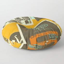 TAPE PARTY Floor Pillow