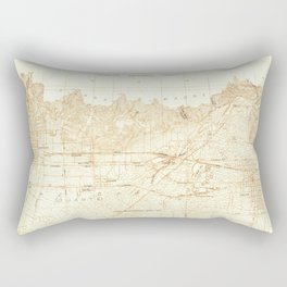 Azusa, CA from 1925 Vintage Map - High Quality Rectangular Pillow