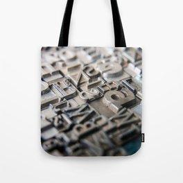 Old Metal Letters Tote Bag