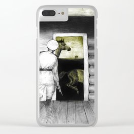 night visitor Clear iPhone Case