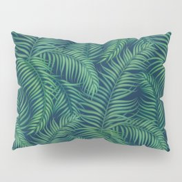 Night tropical palm leaves Pillow Sham