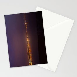 Swansea Bay at Night Stationery Cards