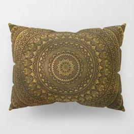 Lime Brown Mandala Pillow Sham