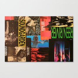 90's Grunge collage Canvas Print