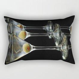 Three Martini's and three olives.  Rectangular Pillow