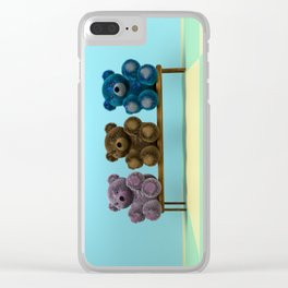 Bears on the Bench Clear iPhone Case