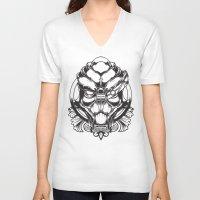 garrus V-neck T-shirts featuring Mass Effect. Garrus Vakarian by OneAppleInBox
