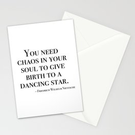 You need chaos in your soul Stationery Cards