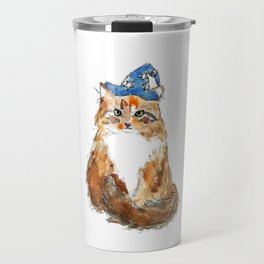 Maine Coon Cat Wizard Travel Mug