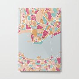 Hong Kong map Metal Print