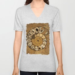 An ancient treasure in browns Unisex V-Neck