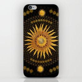 """Black & Gold Vault Mandala"" iPhone Skin"