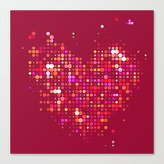 Heart2 Red Canvas Print