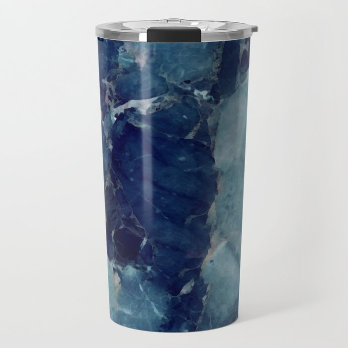 Blue marble texture Travel Mug