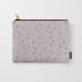 Spring Clover-Gray Carry-All Pouch