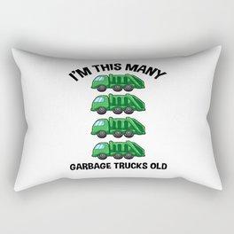 I'm This Many Garbage Trucks Old 4 Birthday Rectangular Pillow