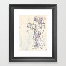 Motion Figure Color Framed Art Print