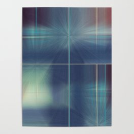 Distresed Denim Abstract Line Design Poster