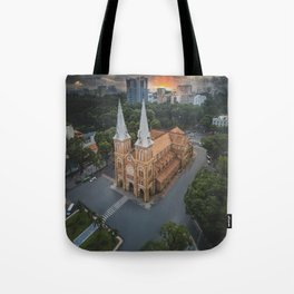 Notre-Dame Cathedral Basilica of Saigon Tote Bag