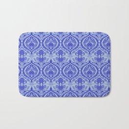 Simple Ogee Blue Bath Mat