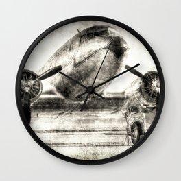 Vintage Aviation Wall Clock