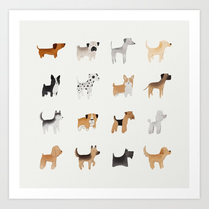 Lots of Cute Doggos Art Print by keatonnugent | Society6