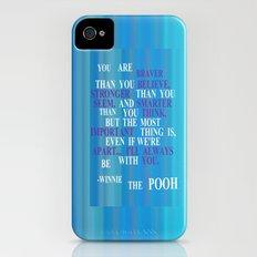 Winnie quote 2 Slim Case iPhone (4, 4s)