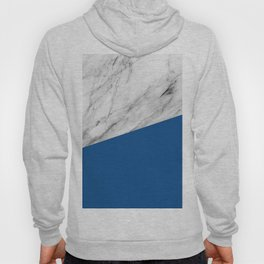 Marble and Lapis Blue Color Hoody