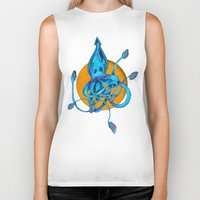 squid Biker Tanks featuring Squid by Ruth Wels
