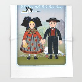 Children of Alsace Throw Blanket