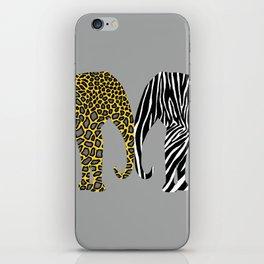 Elephants in Animal Prints iPhone Skin