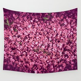 Pretty Pink Flowers Wall Tapestry