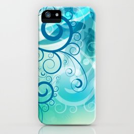Remolino floral iPhone Case