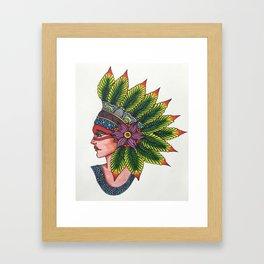 Queen Chief Framed Art Print