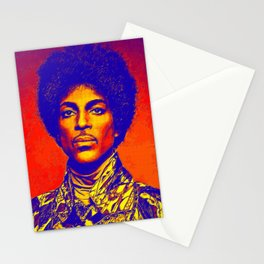 A digitally drawing of Prince (colour) Stationery Cards