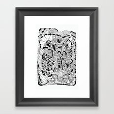 What hides a caress Framed Art Print