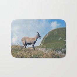 Ibex while hiking Bath Mat